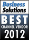 Business solutions - Best channel vendor 2012 award