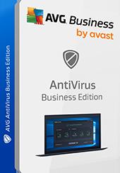 Zdjęcie pudełka, bez cienia: AVG AntiVirus Business Edition