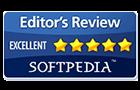 Onderscheiding Softpedia Editor's Review uitstekend