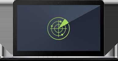Smart Scanner - Interfaccia utente notebook con icona verde