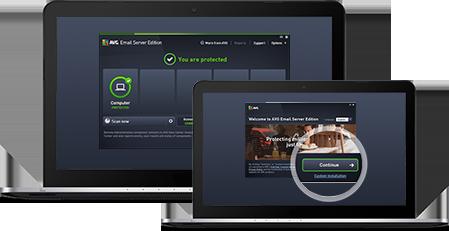 Email Server Business Edition - Due notebook con interfaccia utente Gestione Remota