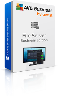 Boxshot File Server Business Edition met reflectie