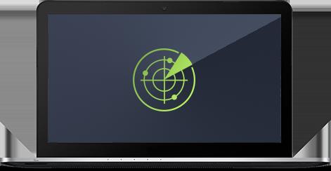 Gebruikersinterface File Server Edition – Smart Scanner op laptop