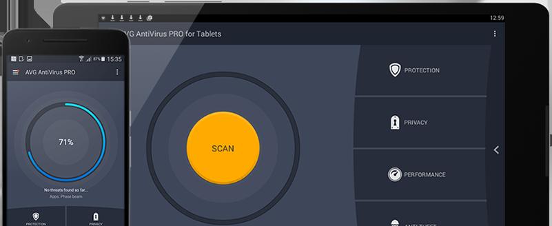 Интерфейс, мобильный телефон и планшет с Android