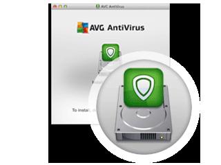 Krok drugi instalacji — instalowanie programu AVG AntiVirus dla komputerów Mac