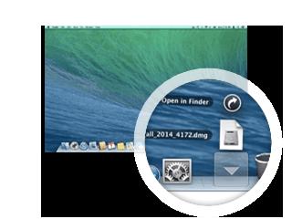 Защита длякомпьютера Mac, первый шаг установки— загрузка