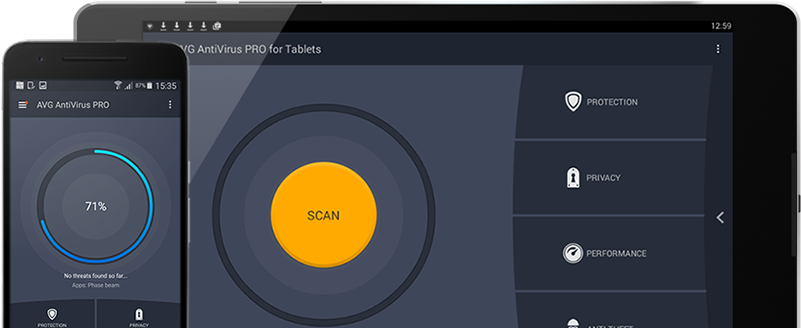 Gebruikersinterface Android-mobiel en -tablet