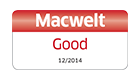 """Bei Macwelt mit """"Gut"""" bewertet, 12/2014 (Englisch)"""