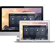 Mac und Macbook mit Schutz (Benutzeroberfläche)