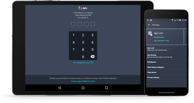 UI tablet nad android phone app lock small