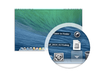 Langkah pertama instalasi Perlindungan untuk Mac – unduh