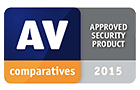 AV comparative approved security product 2015 award