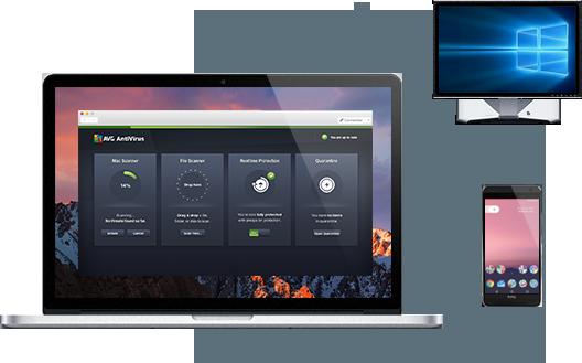 Benutzeroberfläche: Mac-Monitor, Android-Telefon– Dreifachschutz