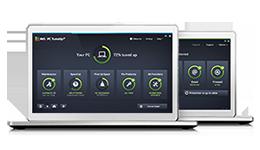 Obrazovky suživatelským rozhraním aplikace PC TuneUp Business Edition