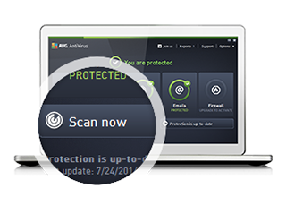 AVG AntiVirus-Installation, Schritt3: Jetzt scannen