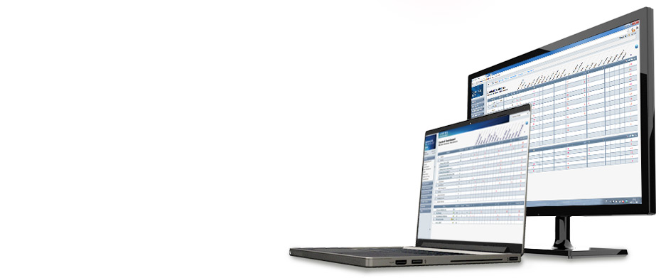 Banner Managed Workplace screens, laptop and PC monitor, 930 x 391 px